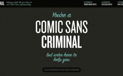 Comic Sans: quando il carattere non piace